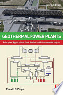 Geothermal Power Plants Book