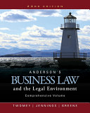 Anderson S Business Law And The Legal Environment Comprehensive Volume Book
