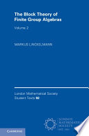 The Block Theory of Finite Group Algebras Book