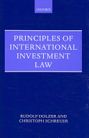 Cover of Principles of International Investment Law