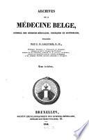 Archives de la Médicine Belge