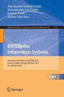 ENTERprise Information Systems  Part II