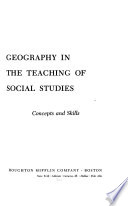 Geography in the Teaching of Social Studies: Concepts and Skills