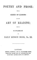 Poetry and prose: with lessons on the art of reading; a suppl. to Daily lesson book