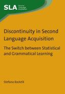Discontinuity in Second Language Acquisition Pdf/ePub eBook