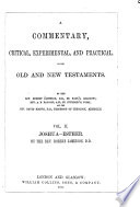 A Commentary  Critical  Experimental  and Practical  on the Old and New Testaments  Joshua Esther Book