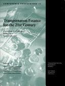Transportation Finance for the 21st Century