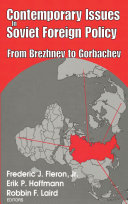 Contemporary Issues in Soviet Foreign Policy Pdf/ePub eBook