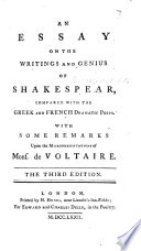 an essay on the writings and genius of shakespeare by mrs an essay on the writings and genius of shakespeare by mrs montagu second edition