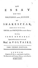 An Essay on the writings and genius of Shakespeare. By Mrs. Montagu. ... Second edition