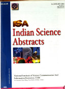 Indian Science Abstracts