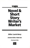 Novel And Short Story Writer S Market 1989