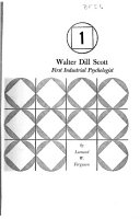 Walter Dill Scott  first industrial psychologist