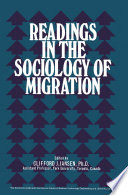 Readings in the Sociology of Migration Book