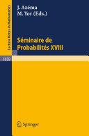 Séminaire de Probabilités XVIII 1982/83 [Pdf/ePub] eBook