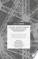School Effectiveness and Educational Management Towards a South-Eastern Europe Research and Public Policy Agenda