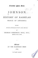 The History of Rasselas  Prince of Abissinia