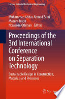 Proceedings of the 3rd International Conference on Separation Technology