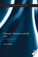 Directors' Decisions and the Law