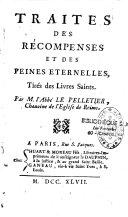 Traitez des récompenses et des peines éternelles tirés des livres Saints