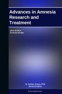 Pdf Advances in Amnesia Research and Treatment: 2012 Edition
