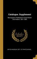Catalogue Supplement