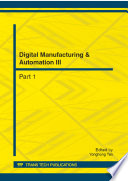 Digital Manufacturing   Automation III