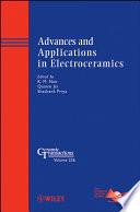 Advances And Applications In Electroceramics Book PDF
