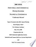 2001 IEEE Industrial and Commercial Power Systems Technical Conference