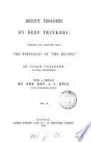 Devout thoughts by deep thinkers  selected from  the portfolio  of  The Record  by S  Coalbank Book