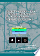 Electroluminescence Light Emitting Device Enhanced By Tpd Polymer And Emissive Quantum Dots Book PDF