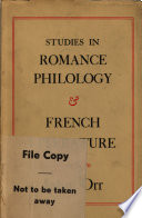 Studies in Romance Philology and French Literature Pdf/ePub eBook