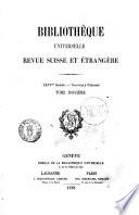 Bibliotheque universelle revue suisse et etrangere