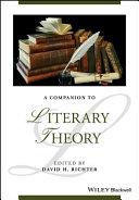 Pdf A Companion to Literary Theory Telecharger