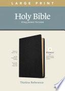 Kjv Large Print Thinline Reference Bible Filament Enabled Edition Red Letter Genuine Leather Black