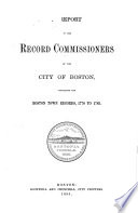 A Report of the Record Commissioners of the City of Boston  1895  Boston town records  1778 1783 Book