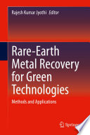 Rare Earth Metal Recovery for Green Technologies