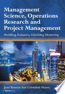 Management Science Operations Research And Project Management