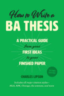 How to Write a BA Thesis  Second Edition