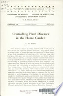 Controlling Plant Diseases in the Home Garden
