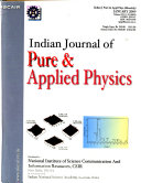 Indian Journal of Pure   Applied Physics