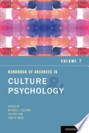Handbook of Advances in Culture and Psychology Book
