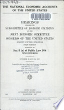 The National Economic Accounts of the United States
