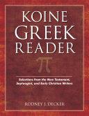 Koine Greek Reader