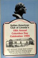 Italian American Club of Livonia Presents Livonia's Columbus Day Party