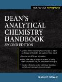 Pdf Dean's Analytical Chemistry Handbook Telecharger