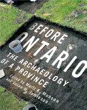 Before Ontario Pdf/ePub eBook