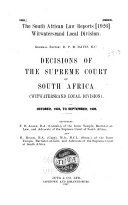 The South African Law Reports