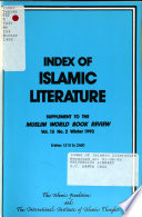 Index of Islamic Literature