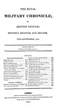 The Royal Military Chronicle  VOL IV May 1812